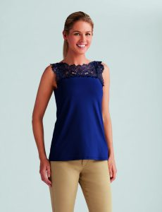 Reversible Top Dark Blue