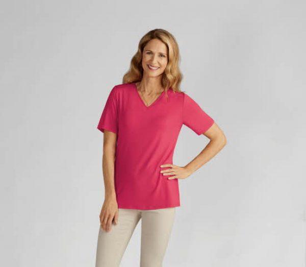 V-Neck T-Shirt Paradise Pink
