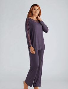 Pajama Set Dark Plum