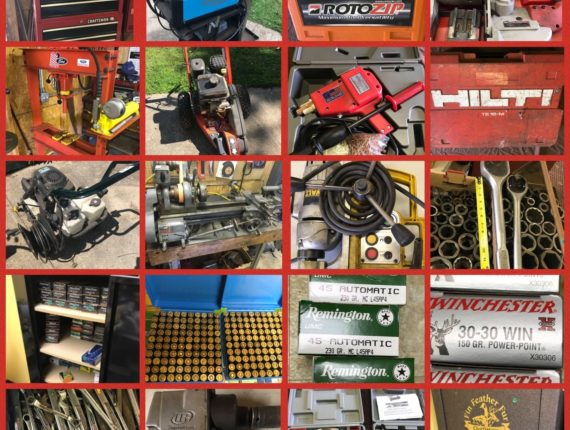 300+Lots! OnLine-Only, High End Tools, 20k+ Rounds of Ammo & More Auction