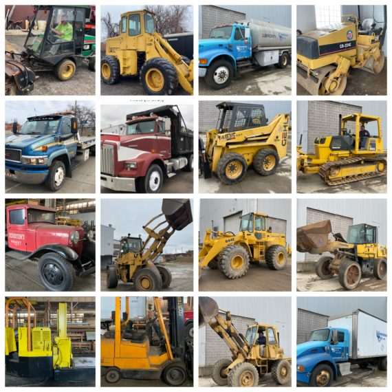 Live/Online-Heavy Equip./Machinery/Tanker Trucks, Loaders, Comm Trucks, Trailers Auction-Cleveland