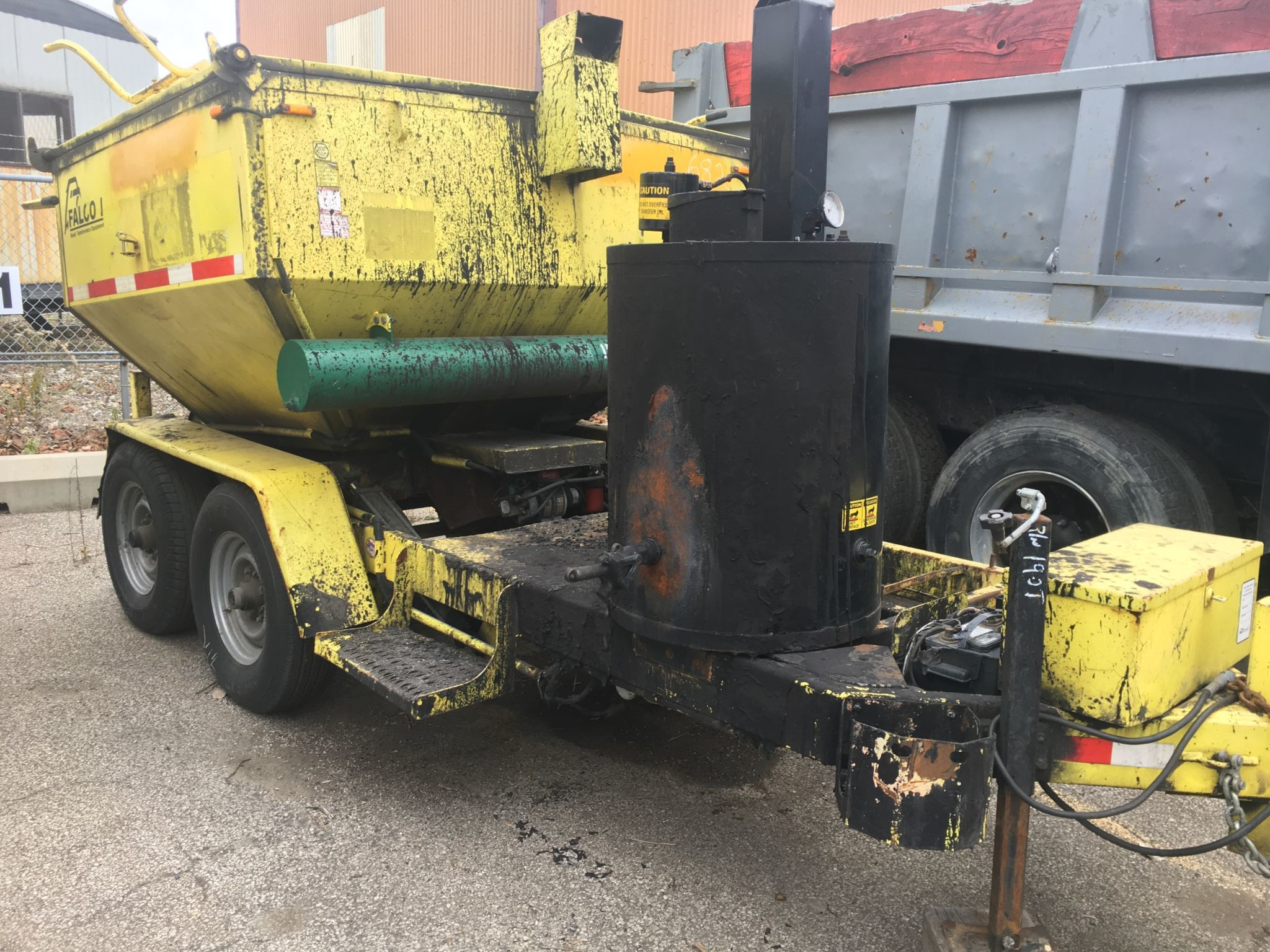 Forklifts,pull behind diesel compressors, asphalt hot pot trailers, box trucks