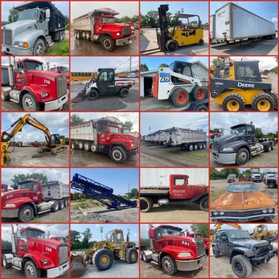 LIVE ONSITE w/ Online Bidding Large Commercial Trucking Fleet & Equipment Auction-Cleveland