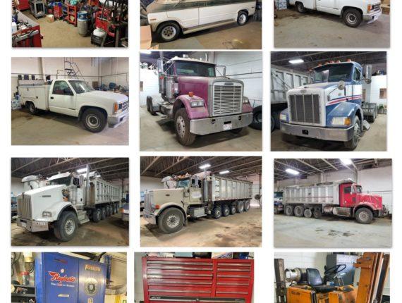 LIVE w/ Online Bidding Commercial Trucking Fleet & Equipment Auction-North Randall