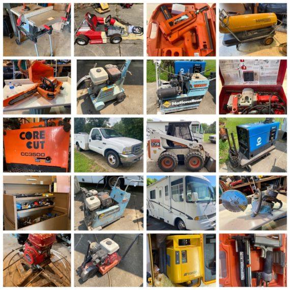 Online-Only Concrete Contractor Retirement Auction-Boston Hts