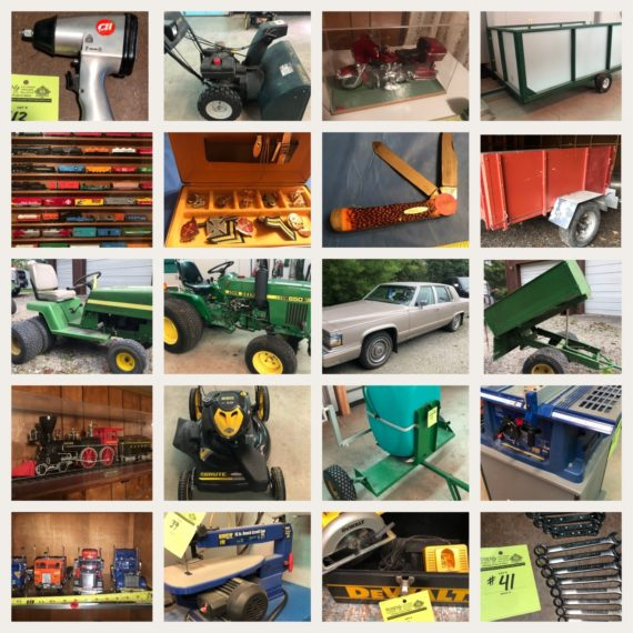 Online-Only JD Tractor, Cadillac, Model Trains, Wood Shop & More Auction!