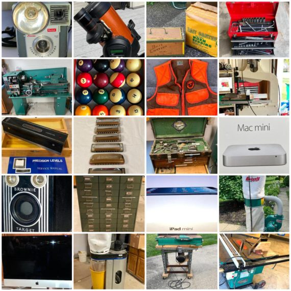 Online-Only Massive Estate Auction of Woodworking Equip, Vintage Cameras, Auto Tooling, Vintage Instruments, Telescopes & More-Mentor-on-the-Lake