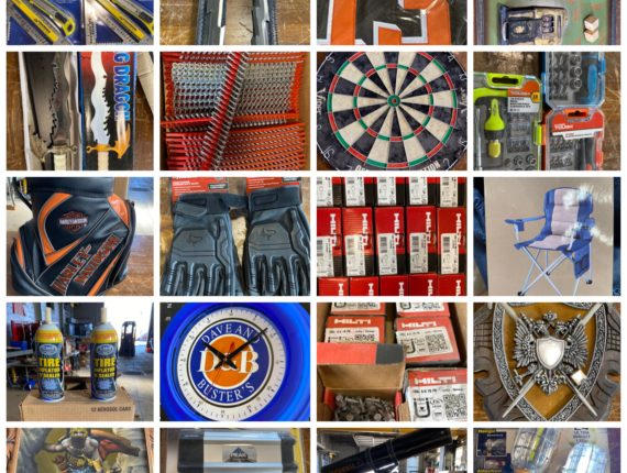 Online Only Man Cave Deco,  Hilti Hardware & Tool Auction-Cleveland
