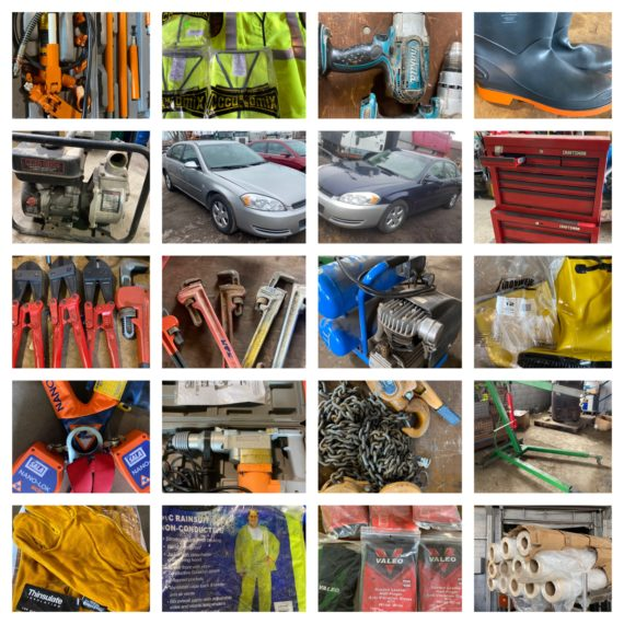 Online-Only Massive Safety Equipment, Boots, A Few Daily Drivers & Small Tool Auction