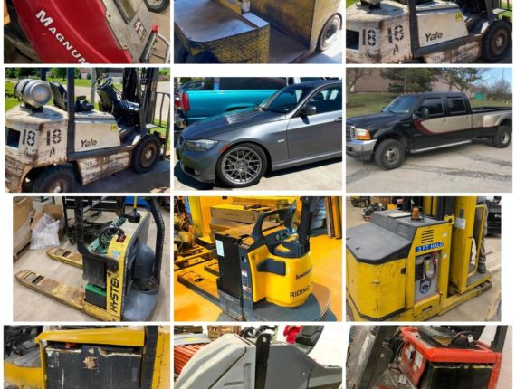 Online-Only Material Moving, Vehicle & Forklift Charger Auction-Walton Hills