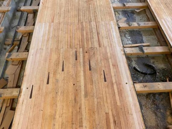 Online-Only Reclaimed Bowling Alley Lumber Auction-Wickliffe