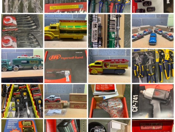 Massive 1100+ Lot Online-Only Pallet Racking, Vintage Toys/New Tools Christmas Auction-JSC Tools Valley View