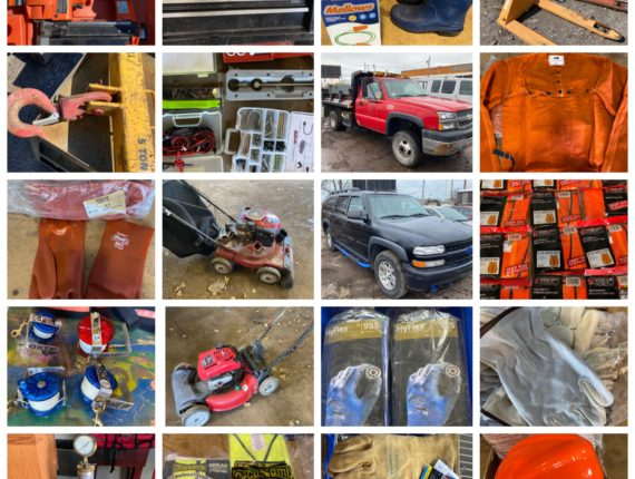 Online-Only Lawn/Garden, Safety Equip, Trucks, Small Tooling Auction