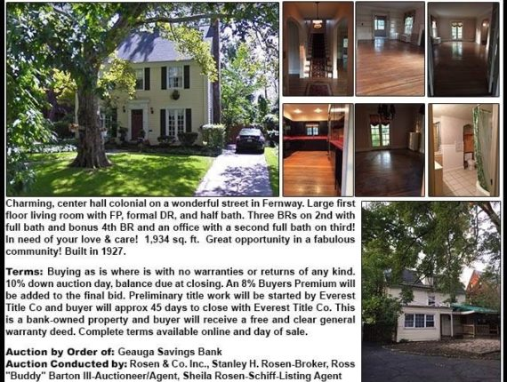 Public Real Estate Auction - Shaker Hts