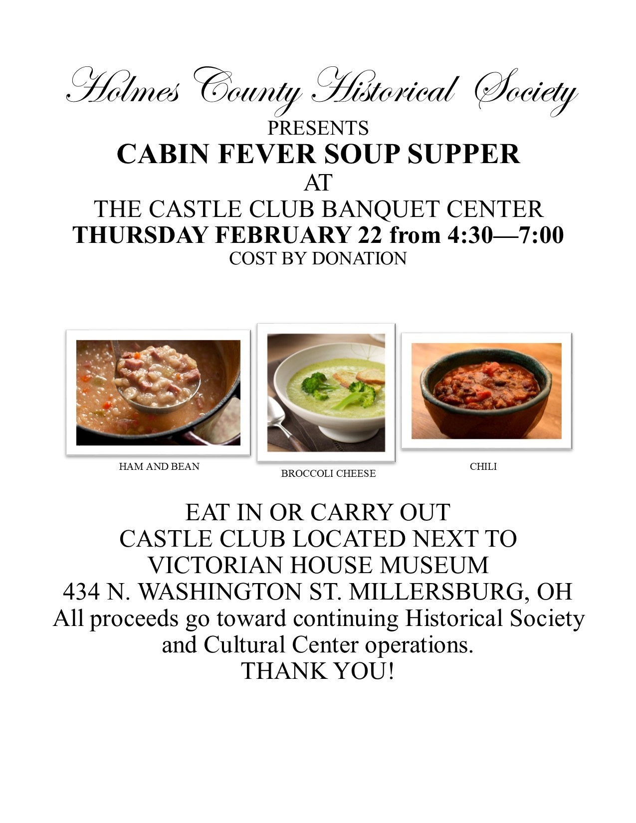 Cabin Fever Soup Supper