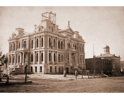 RARE HOLMES CO. COURTHOUSE PHOTO