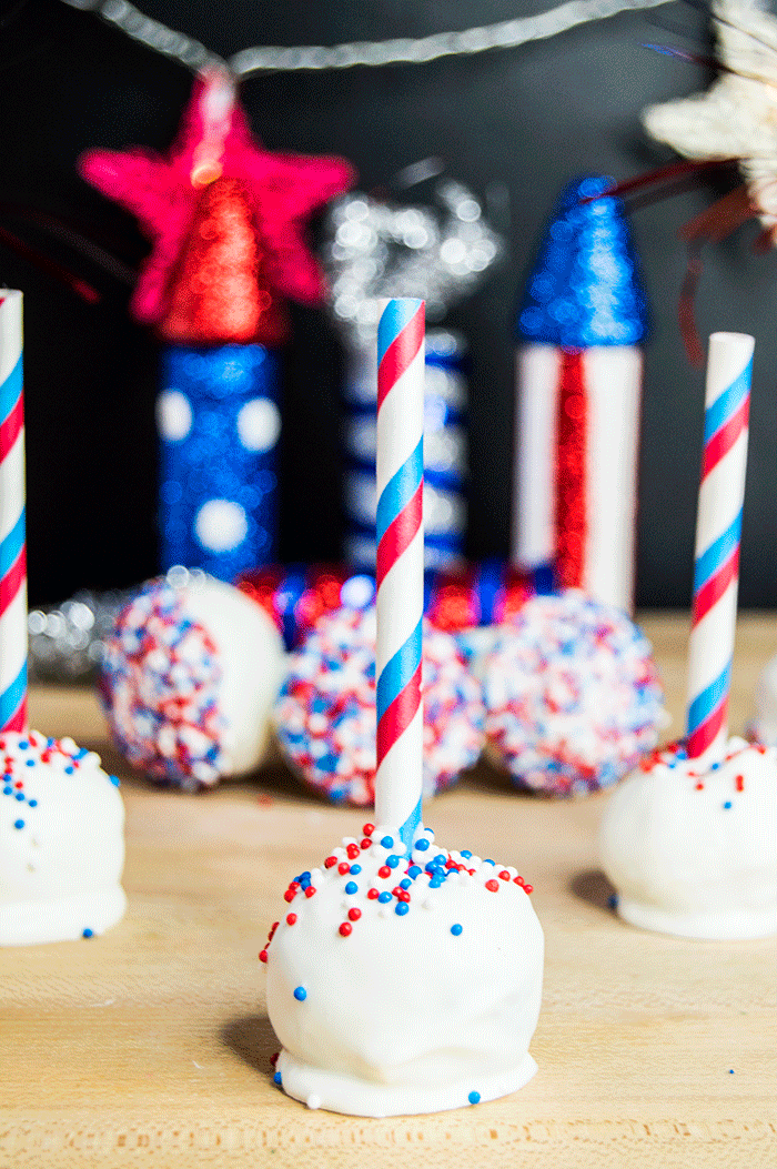 Red White Blue Cake Pops Fourth Of July Recipes The Starving