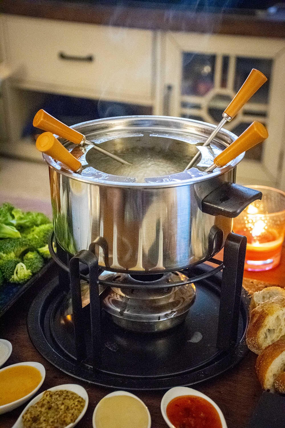 fondue with dips