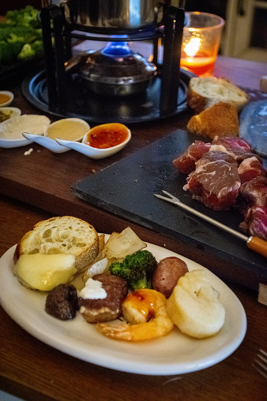 fondue night at home