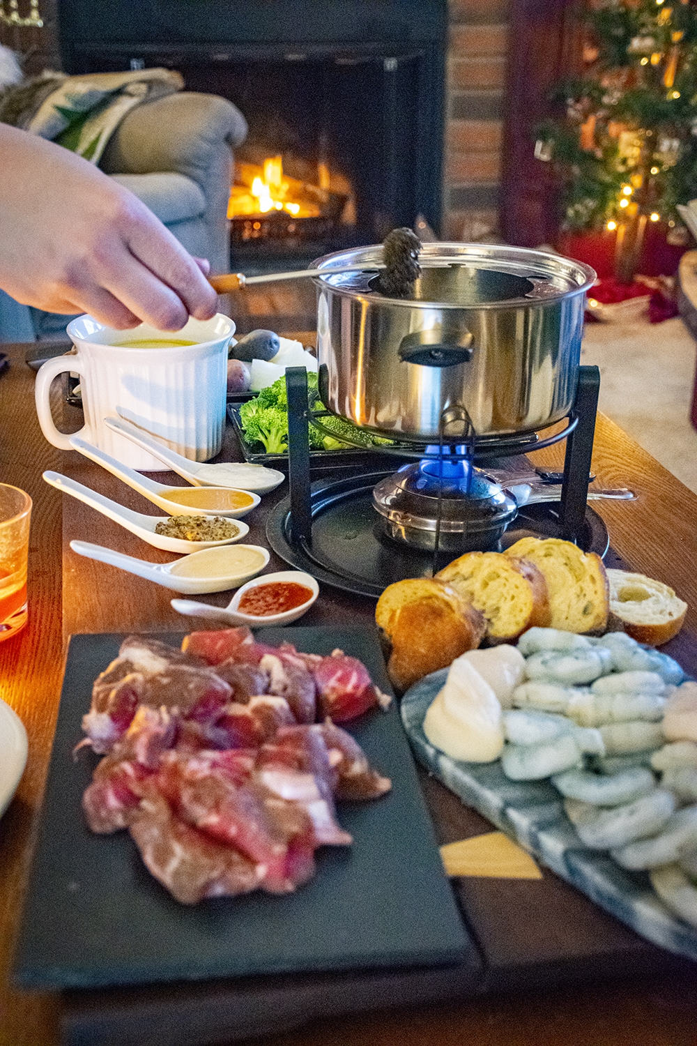 easy fondue night