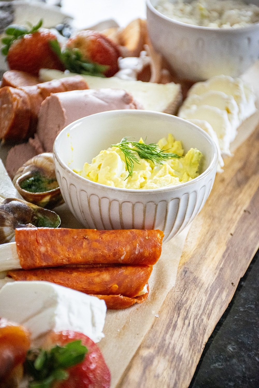 egg salad charcuterie