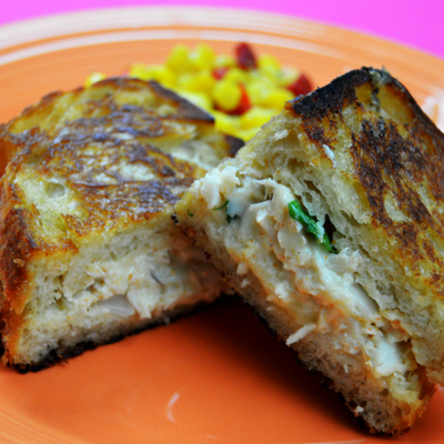 Grilled Cheese Crab Cake Sandwich Recipe