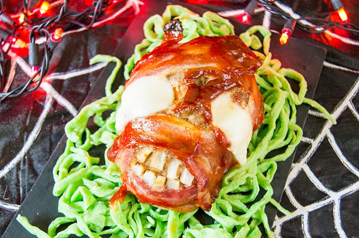 Zombie Meatloaf & Intestine Noodles