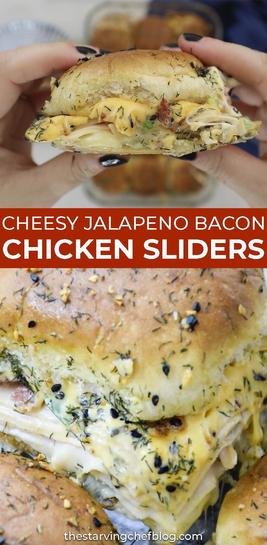 Cheesy Jalapeno Bacon Chicken Sliders