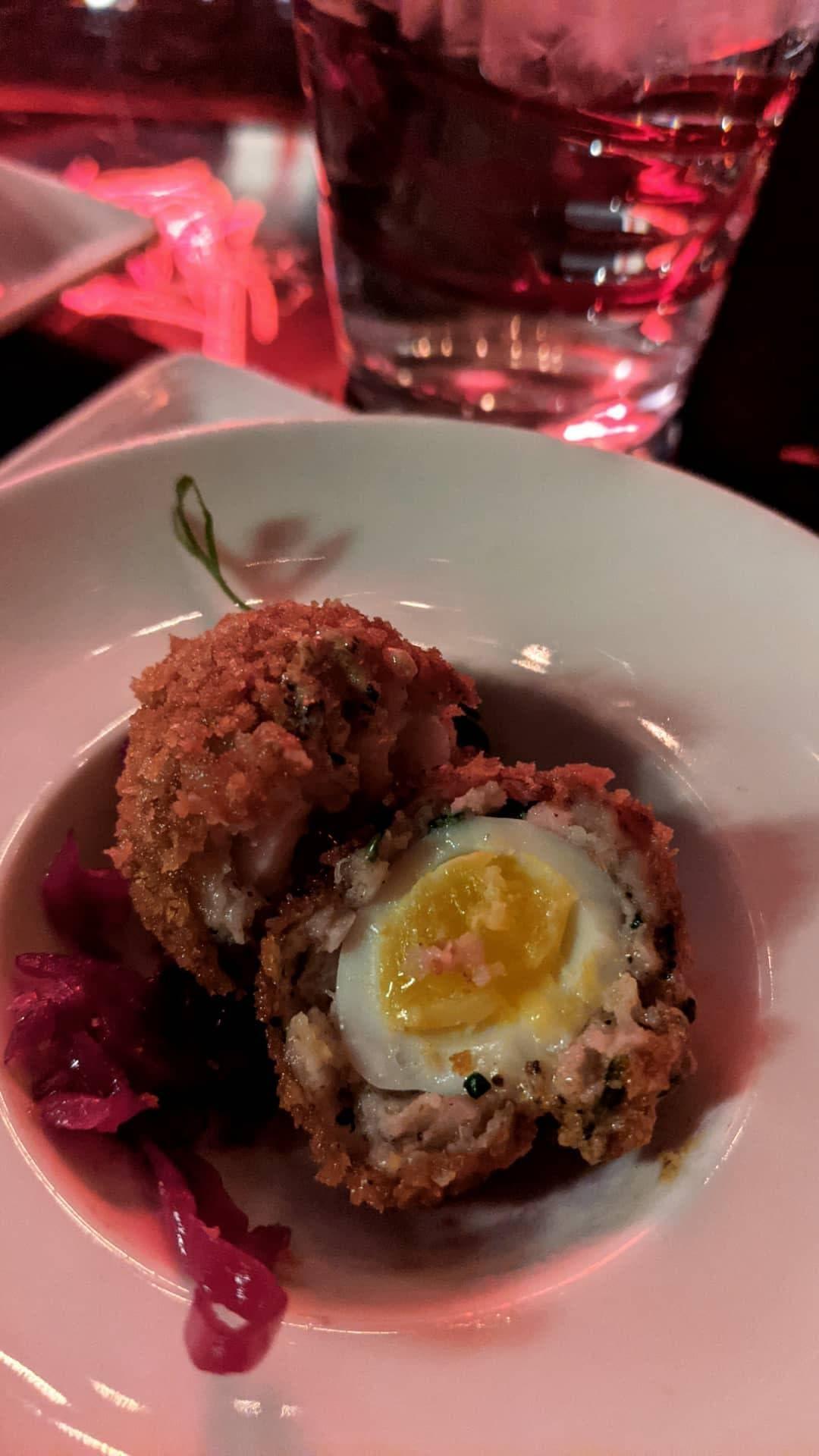 quail egg scotch egg