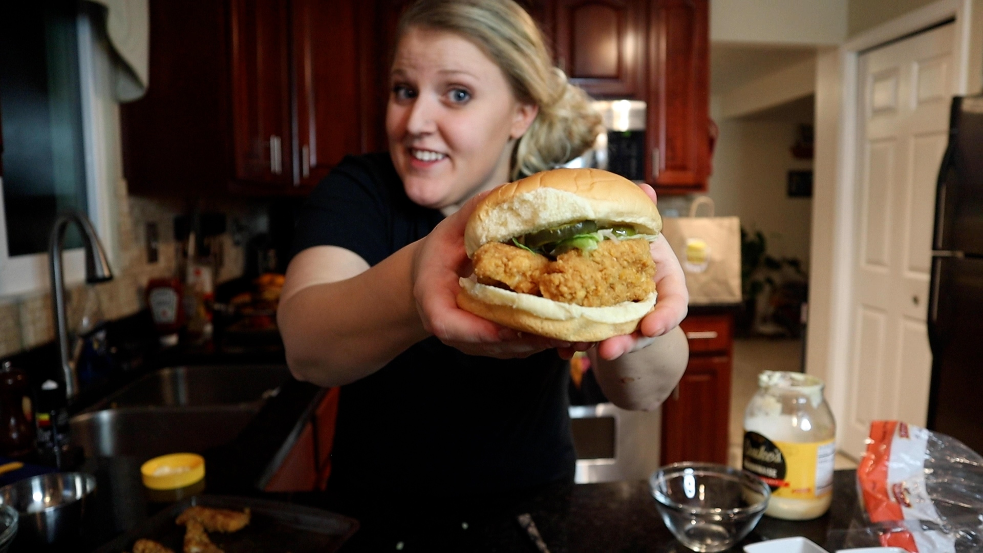 diy mr beast chicken sandwich
