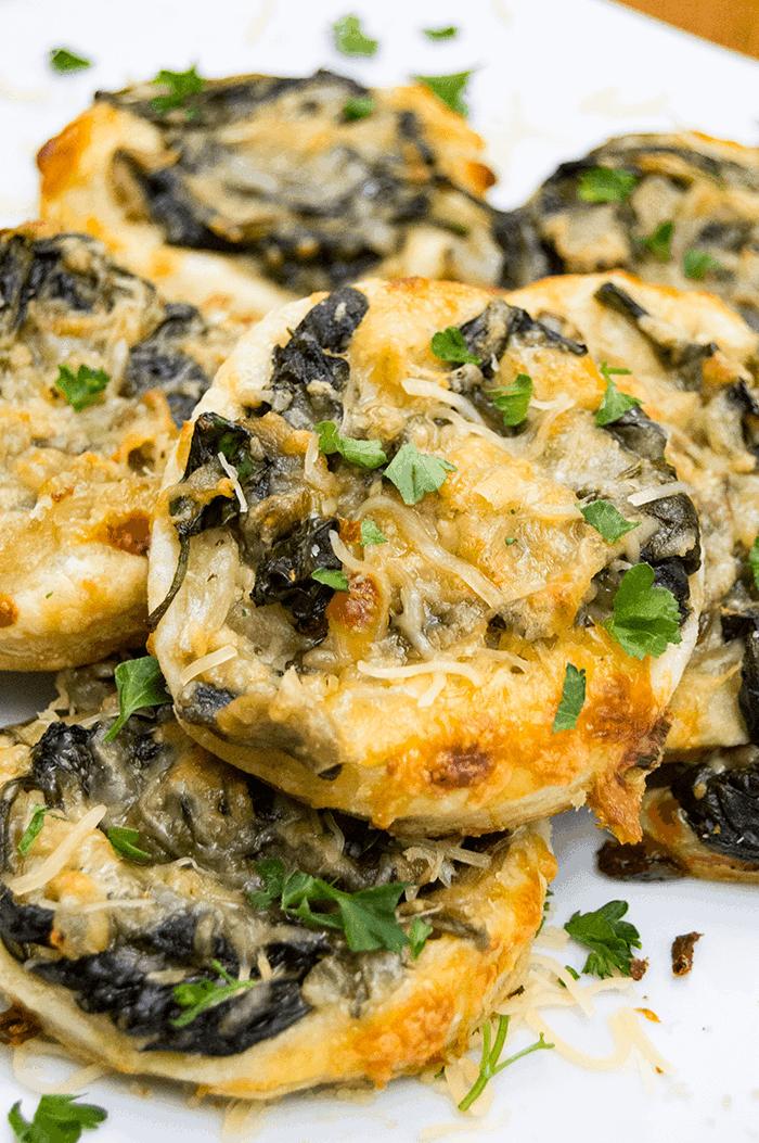 mushroom spinach puffs