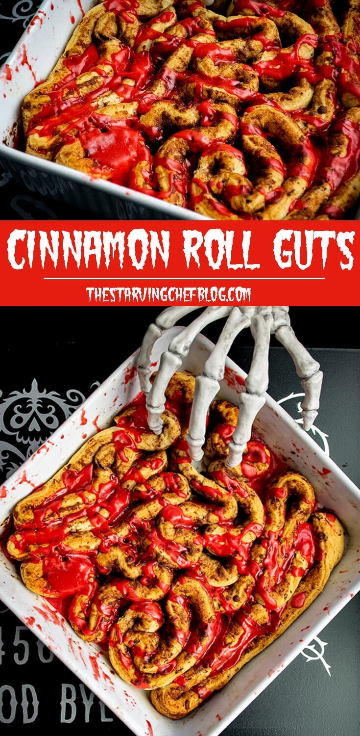 Cinnamon Roll GUTS | Halloween Recipe