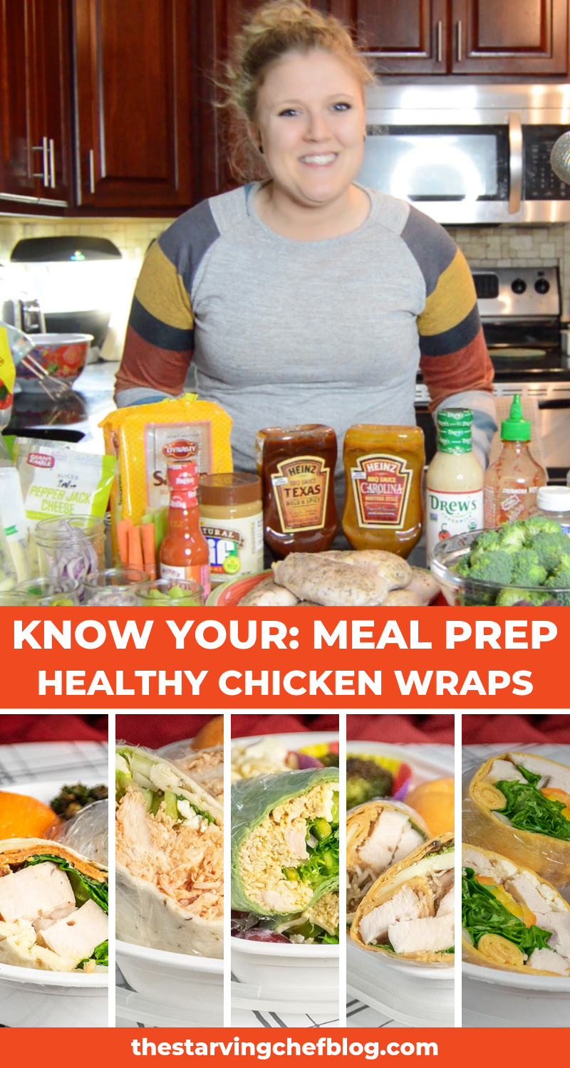 KNOW YOUR: Meal Prep - Healthy Chicken Wraps