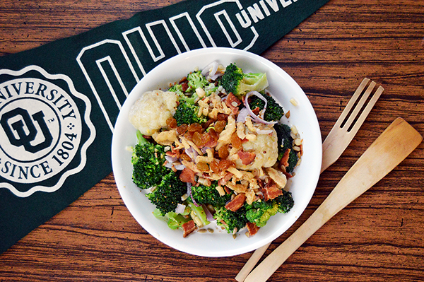 OHIO Bobcat Broccoli Salad