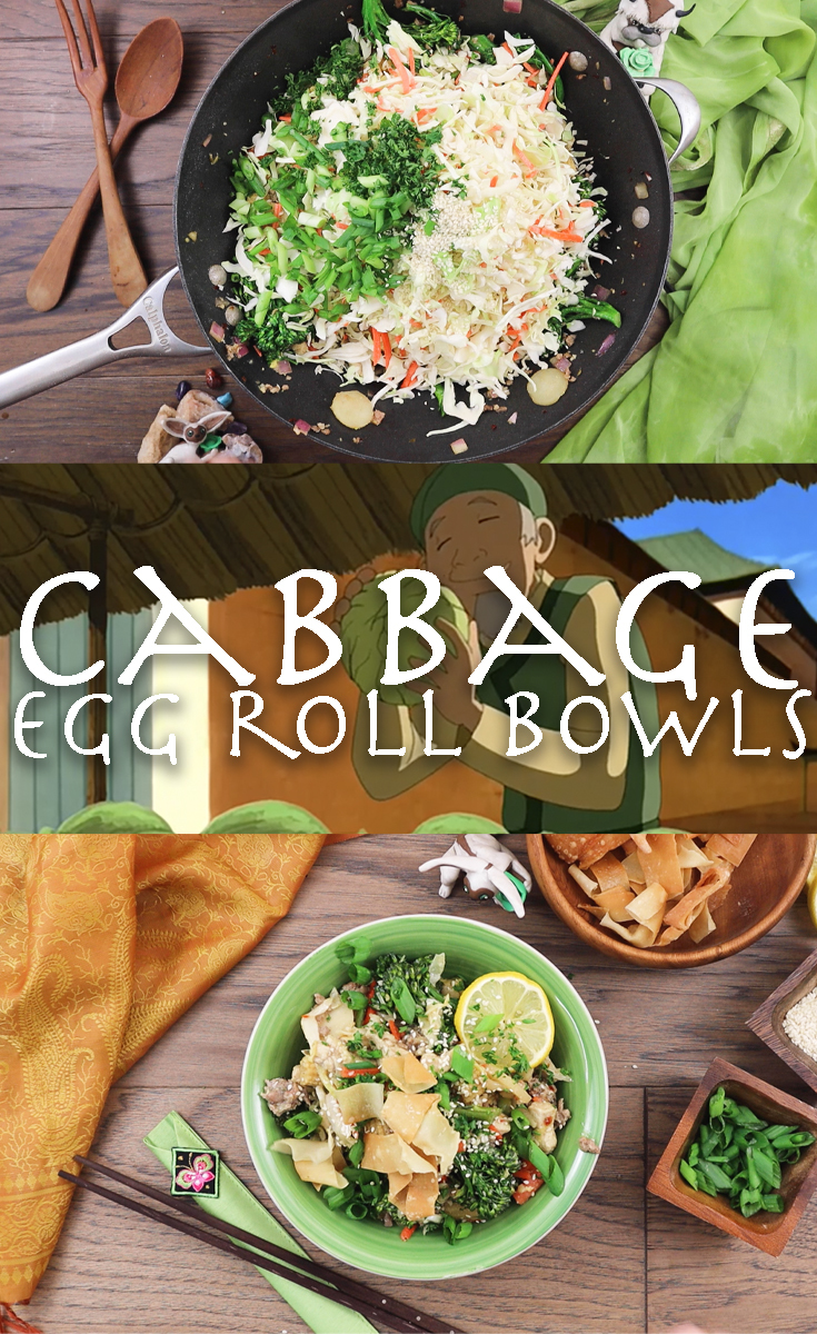Cabbage Egg Roll Bowls | Avatar: The Last Airbender Recipes