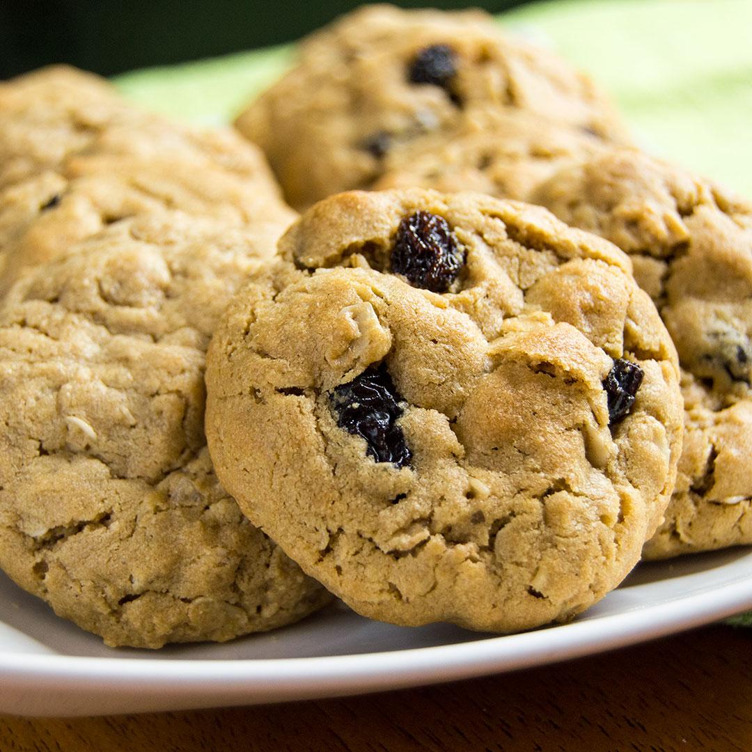 Peanut Butter Oatmeal Raisin Cookies