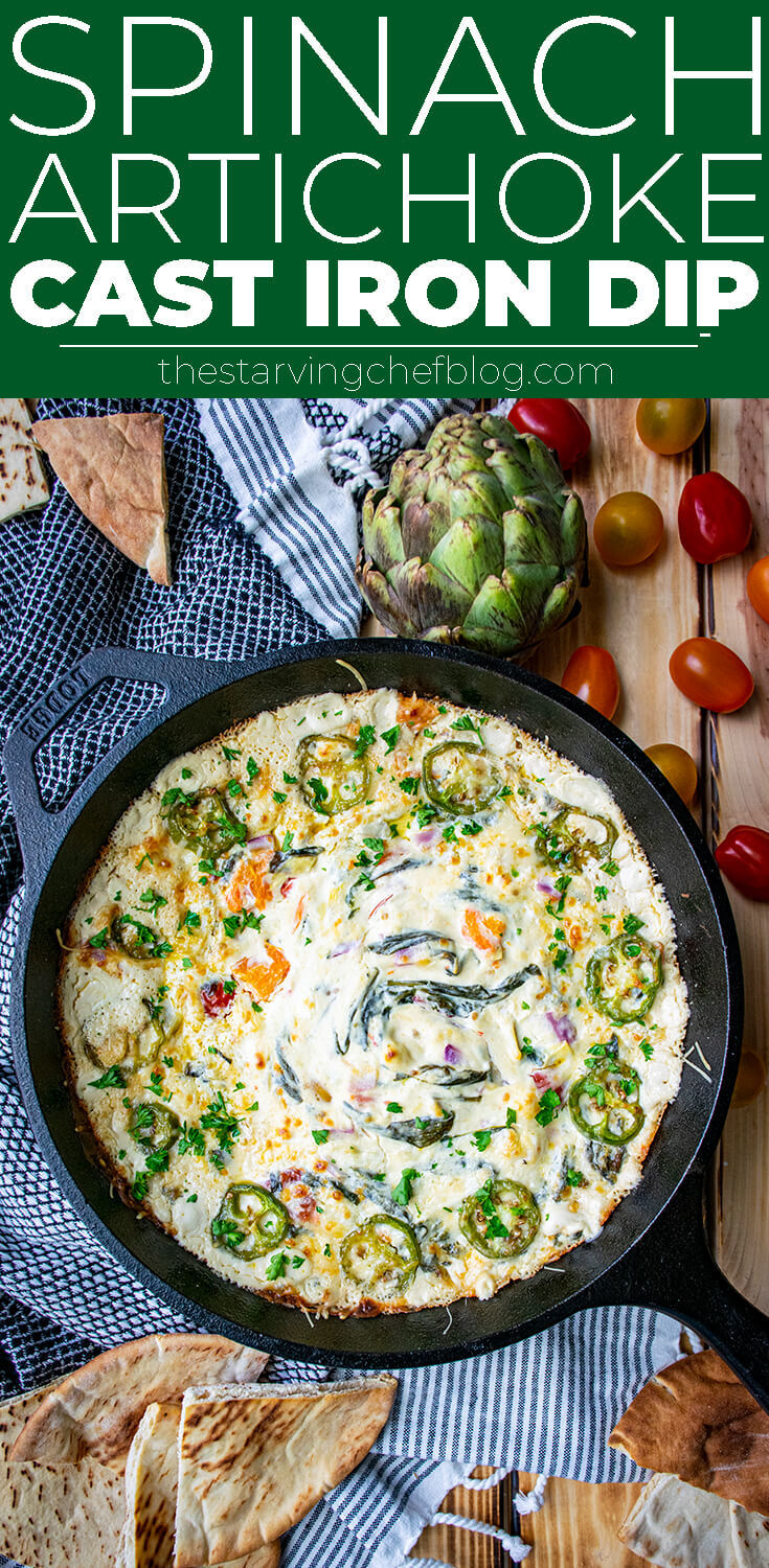 Cast Iron Spinach Artichoke Dip