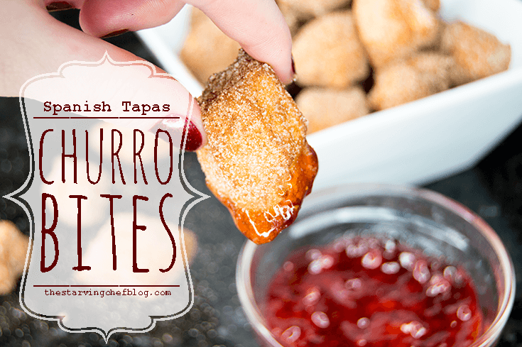 Churro Bites with Strawberry Sauce