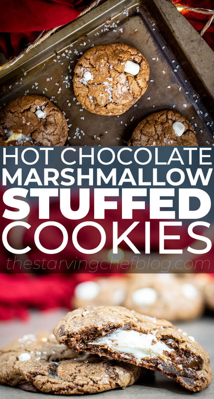 Marshmallow STUFFED Hot Cocoa Cookies