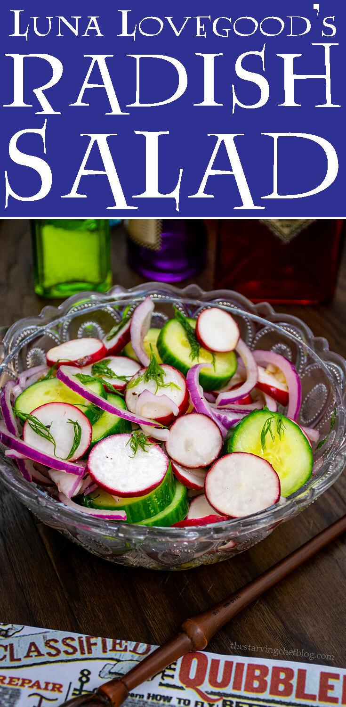 Luna Lovegood's Radish Salad   Harry Potter Magical Recipes