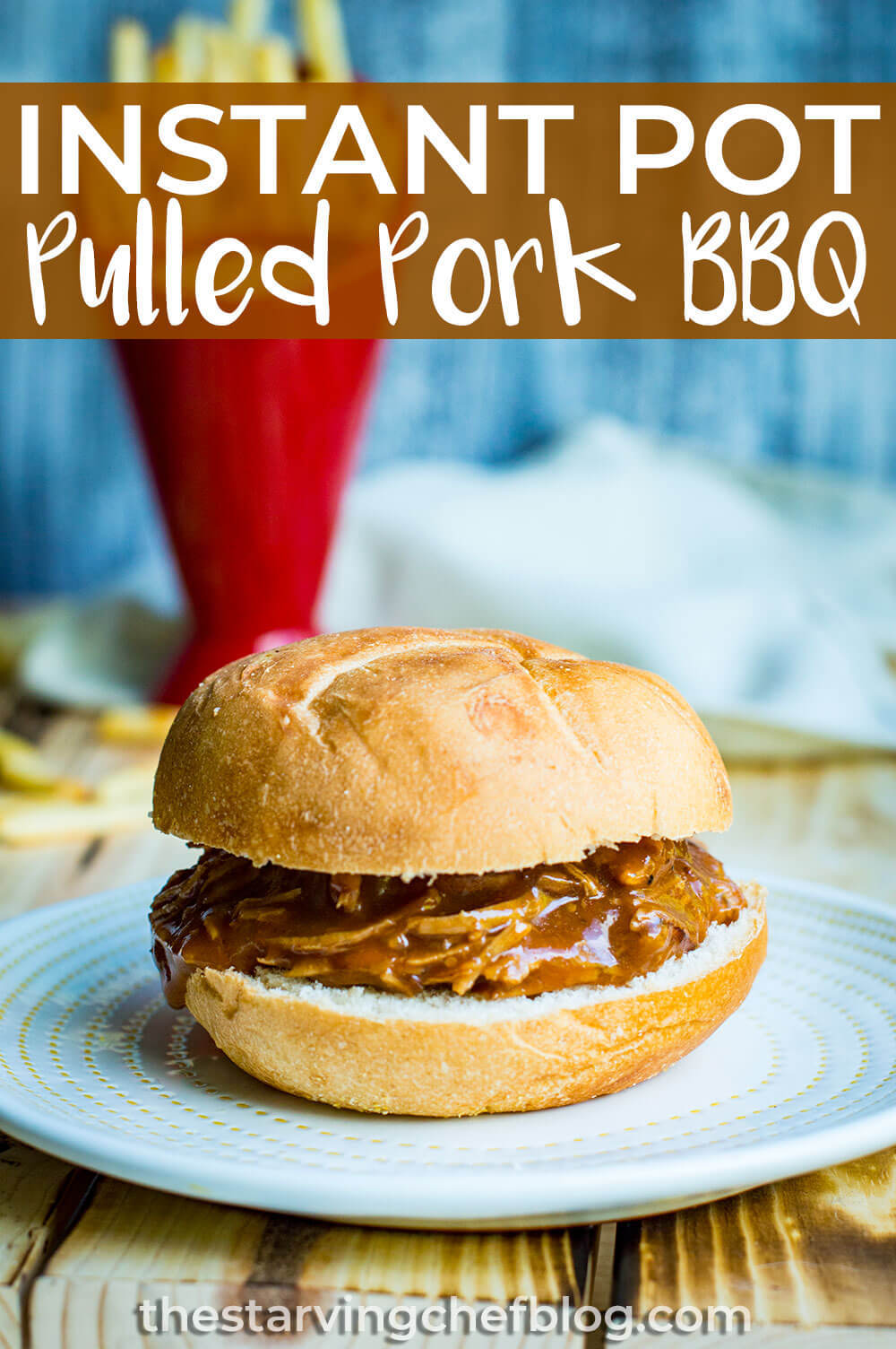 Instant Pot Pulled Pork Apple Cider BBQ
