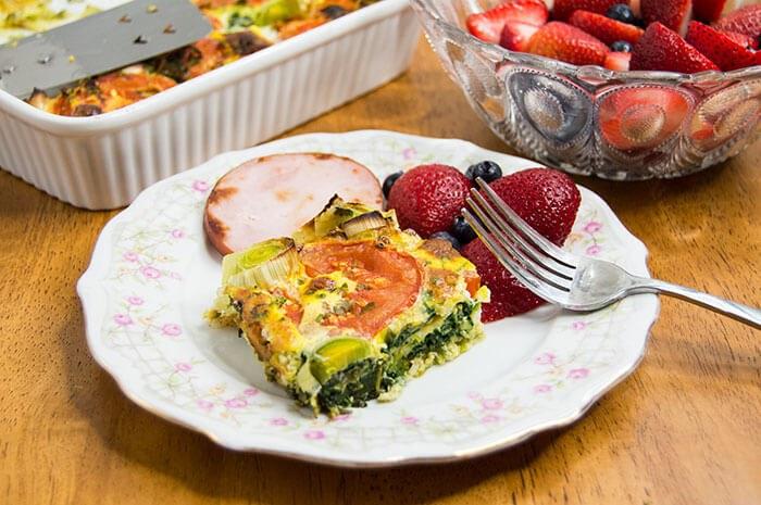 Spinach & Leek Frittata | Whole 30 Recipes